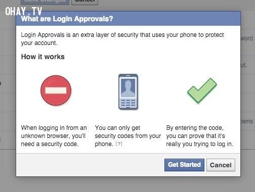18. Cài nhắc nhở khi có ai đó thử đăng nhập bằng tài khoản của bạn,Facebook,mẹo công nghệ