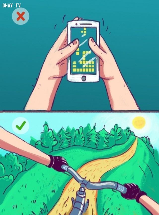 6. Thoát ra khỏi trò chơi trên điện thoại thông minh ,kiểm soát cuộc sống,lý trí,tâm trí,cách sống tốt