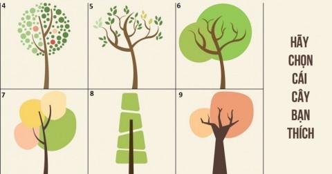 Đoán tính cách của bạn qua hình ảnh cái cây bạn chọn