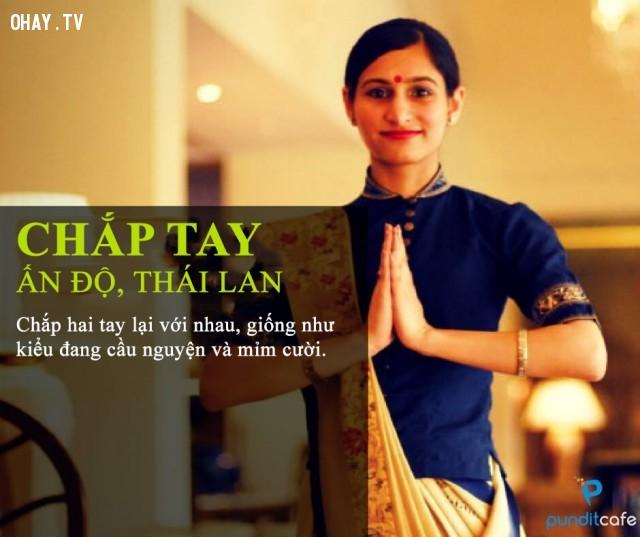 Chắp tay (Ấn Độ, Thái Lan),chào hỏi,văn hóa giao tiếp