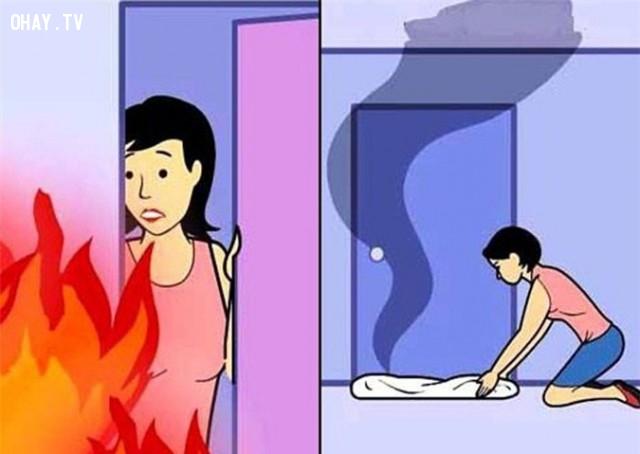 ,kỹ năng sinh tồn,cháy nhà,hỏa hoạn