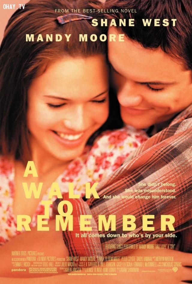 3. A Walk To Remember (2002),phim hay,phim tình cảm,phim tình yêu