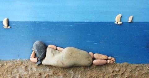 10 bức tranh độc đáo bằng đá ở bờ biển bạn cũng có thể làm