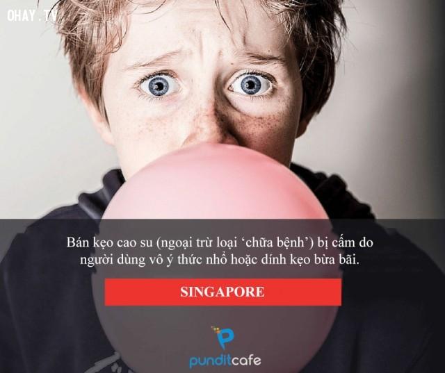 Bán kẹo cao su - Singapore,luật lệ,những điều thú vị trong cuộc sống,chuyện lạ