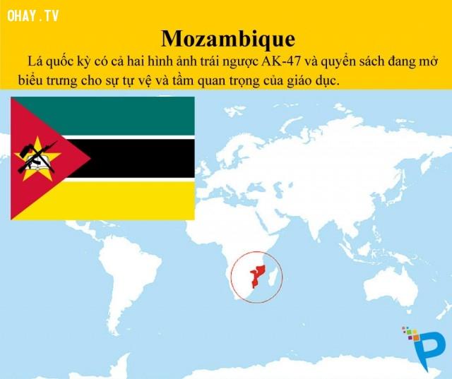 MOZAMBIQUE,lá cờ,quốc kỳ