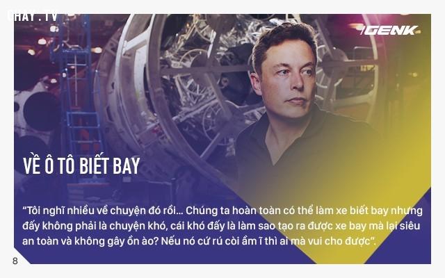 Về oto biết bay,Elon Musk,câu nói hay