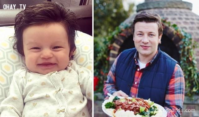 Nụ cười của cậu bé giống hệt Jamie Oliver,Giống nhau,nhân vật nổi tiếng,Khuôn mặt y đúc nhau