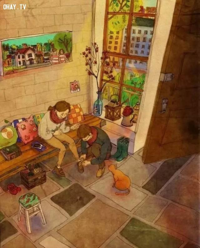 Yêu một người là cẩn thận buộc lại dây giày cho người kia