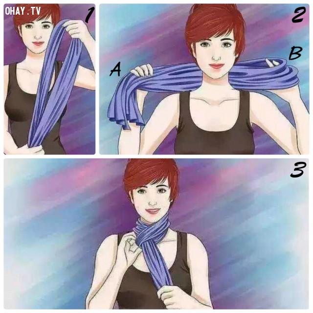 6. PHONG CÁCH CHÂU ÂU,khăn choàng,kiểu thắt khăn