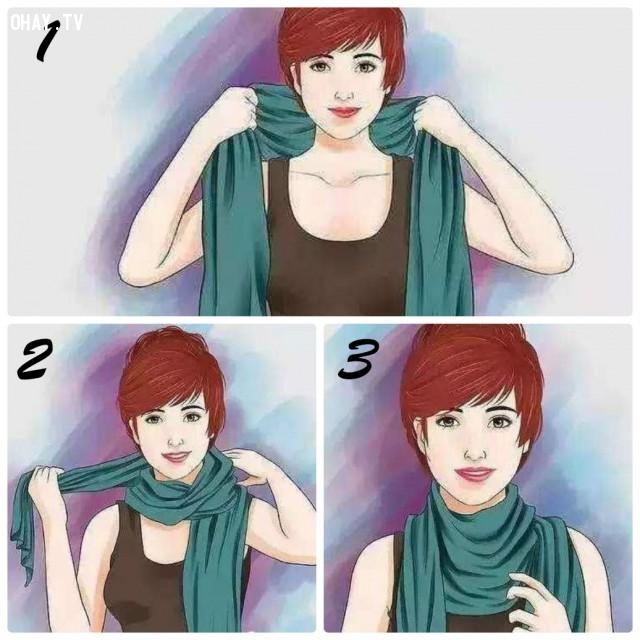 1. KIỂU ĐƠN GIẢN,khăn choàng,kiểu thắt khăn