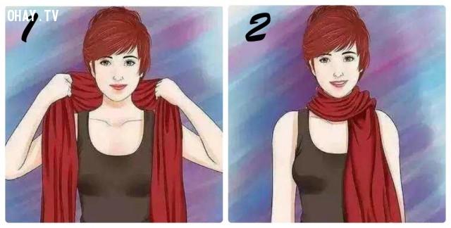 5. KIỂU TRANG NHÃ TIỆN LỢI,khăn choàng,kiểu thắt khăn