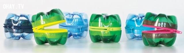 Hộp đựng kẹo có mắc khóa,vỏ chai nhựa,tái sử dụng,tái chế vỏ chai