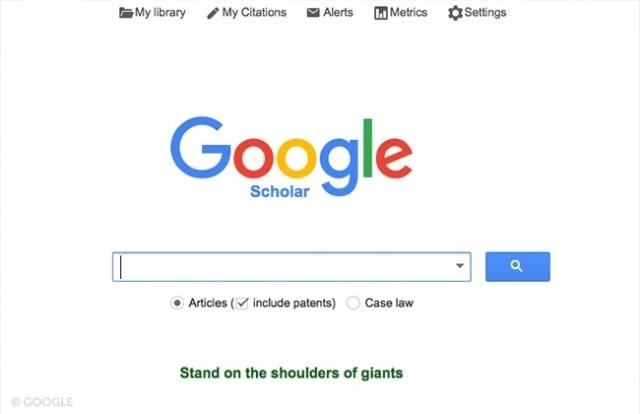 Google Scholar,có thể bạn chưa biết,google,ứng dụng hay