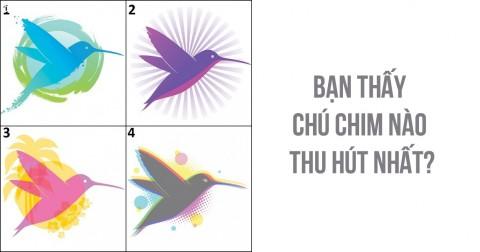 Trắc nghiệm tính cách với hình ảnh chim ruồi