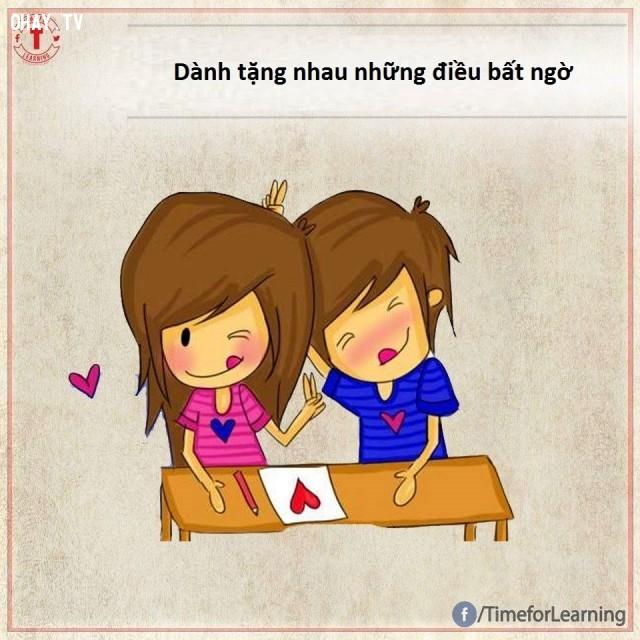 Dành tặng nhau những điều bất ngờ,tình yêu,tình bạn,hạnh phúc,hôn nhân,chung thủy