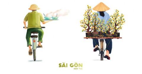Sài Gòn Sau Vai - Bộ tranh thú vị về những đặc trưng của Sài Gòn