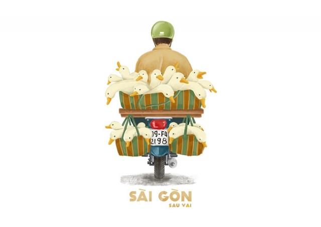 Sài Gòn là những mảnh đời nhiều màu sắc...,sài gòn,tranh vẽ