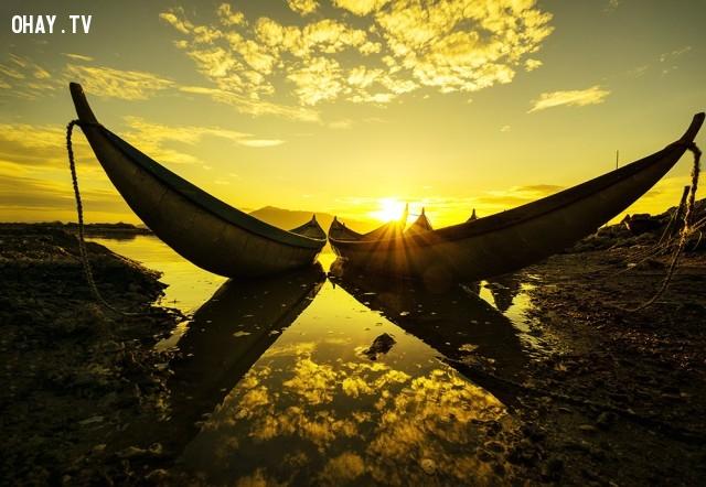 Mặt trời mọc ở vịnh Hòn Thiêng (Phan Rang, Ninh Thuận),ảnh đẹp,việt nam,nhiếp ảnh