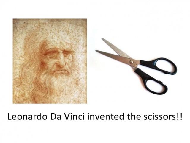 Leonardo Da Vinci là người phát minh ra Kéo.,khoa học,funfact,những điều thú vị trong cuộc sống