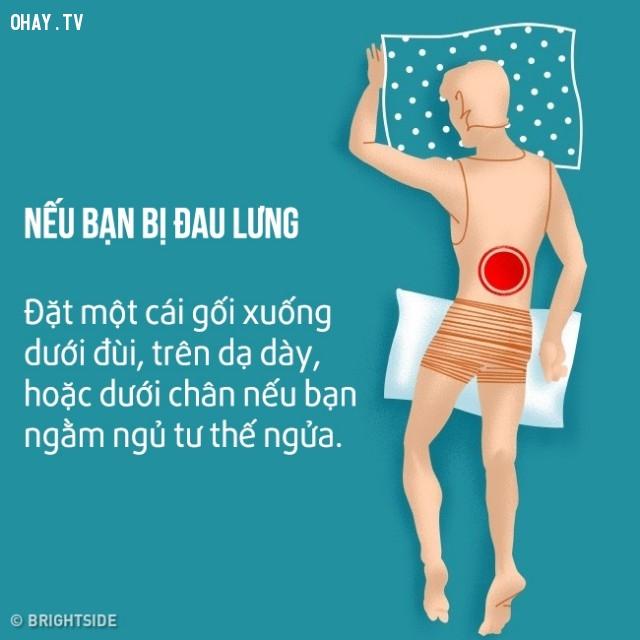 Nếu bạn bị đau lưng,cải thiện giấc ngủ,khó ngủ,ngủ ngon,mẹo sức khỏe
