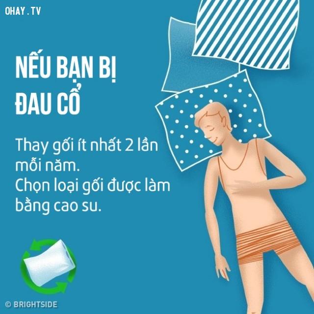 Nếu bạn bị đau cổ,cải thiện giấc ngủ,khó ngủ,ngủ ngon,mẹo sức khỏe