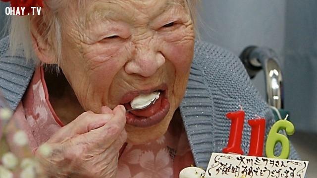 Cứ 2 tỷ người thì chỉ có 1 người được 116 tuổi.,sự thật thú vị,funfacts,những điều thú vị trong cuộc sống