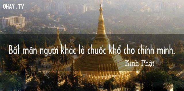 Bất mãn người khác là chuốc khổ cho chính mình.,triết lý,lời Phật dạy,suy ngẫm,câu nói hay,phật giáo
