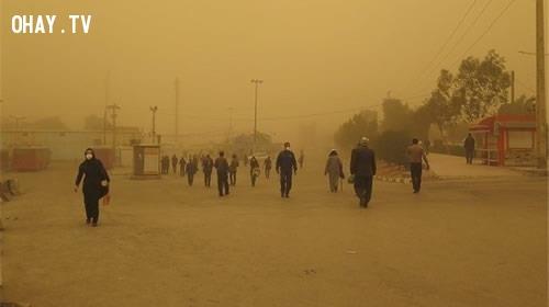 Zabol, Iran,thành phố,rác thải,ô nhiễm