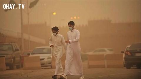 Riyadh, Ẩ Rập Xê Út,thành phố,rác thải,ô nhiễm
