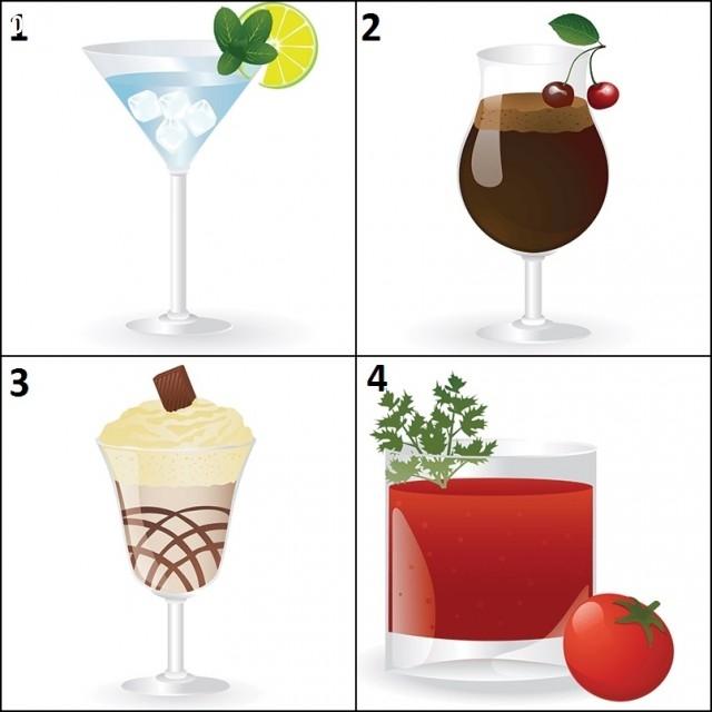 Chọn một ly cocktail mà bạn muốn thưởng thức và kéo xuống dưới xem những điều thú vị được tiết lộ về bạn nhé!,trắc nghiệm vui,cocktail