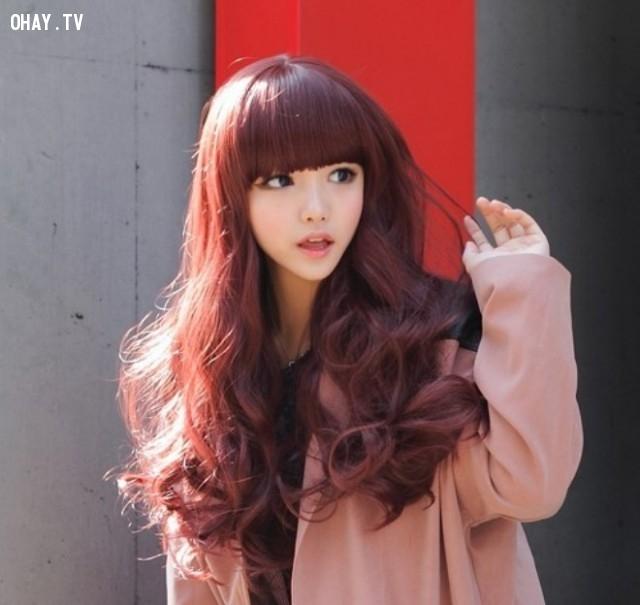 Màu hung đỏ ,Nhuộm tóc tự nhiên,tóc nhuộm đẹp