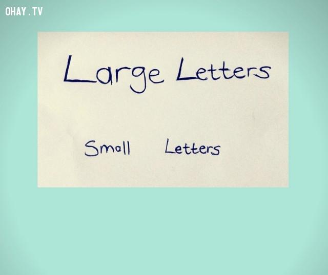 1. Kích cỡ,chữ viết,tính cách
