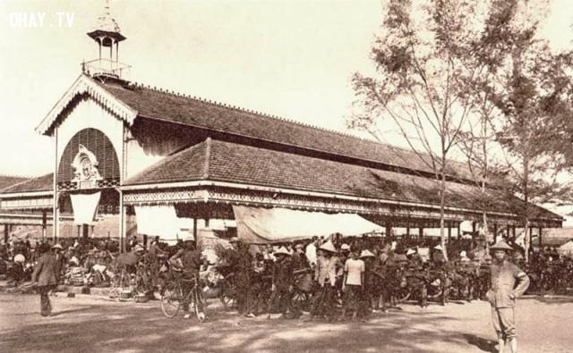 Chợ Gò Công khoảng 1910 (xây năm 1898) ,Việt nam xưa,Việt Nam thế kỷ 18,Ảnh cổ Việt Nam