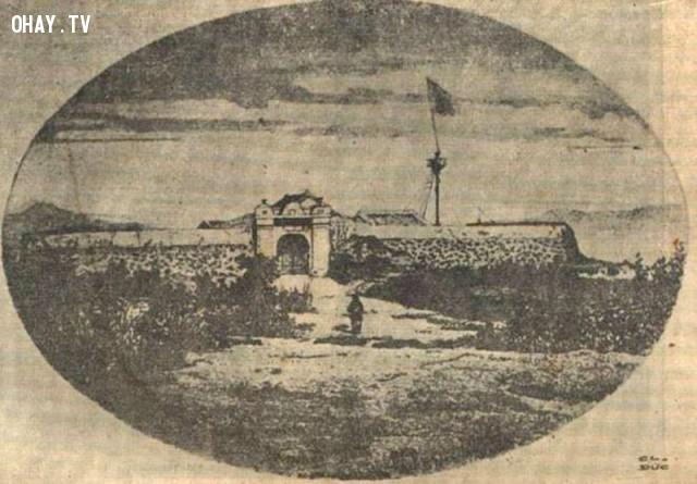 Tấm ảnh đầu tiên của Việt Nam - Đồn Hai Ở Đà Nẵng,Việt nam xưa,Việt Nam thế kỷ 18,Ảnh cổ Việt Nam