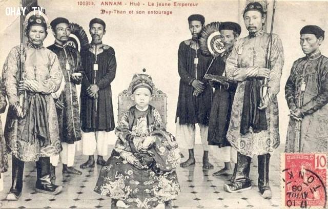 Vua Duy Tân đăng quang lúc 7 tuổi năm 1907,Việt nam xưa,Việt Nam thế kỷ 18,Ảnh cổ Việt Nam