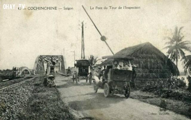 Cầu Bình Lợi năm 1910,Việt nam xưa,Việt Nam thế kỷ 18,Ảnh cổ Việt Nam