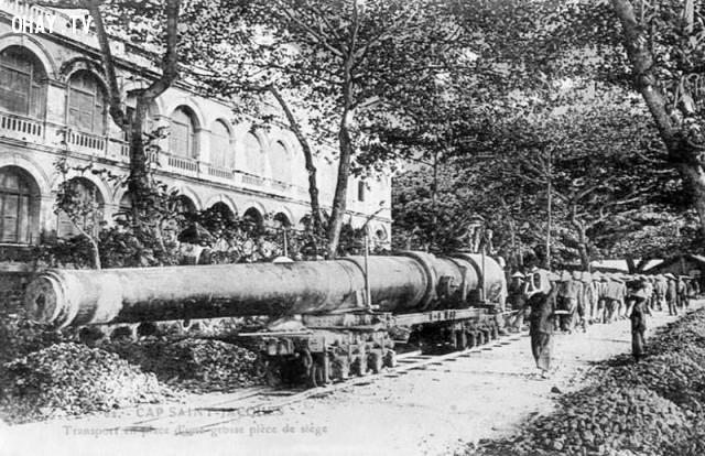 Một khẩu đại pháo của Pháp ở Vũng Tàu năm 1890, vẫn còn tới nay,Việt nam xưa,Việt Nam thế kỷ 18,Ảnh cổ Việt Nam