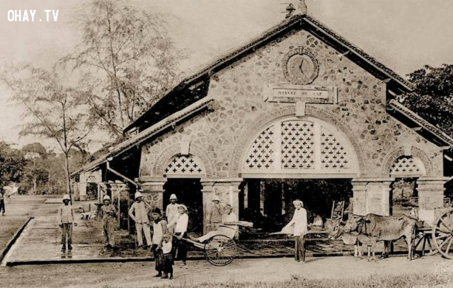 Chợ cũ Vũng Tàu (tức Chợ Cap), năm 1909,Việt nam xưa,Việt Nam thế kỷ 18,Ảnh cổ Việt Nam