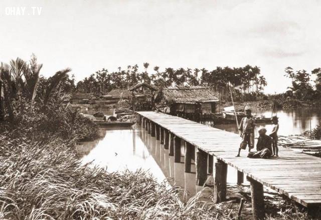 Sài Gòn những năm 1859 đến 1868, trước khi Pháp bắt đầu quy hoạch và xây dựng thành phố,Việt nam xưa,Việt Nam thế kỷ 18,Ảnh cổ Việt Nam
