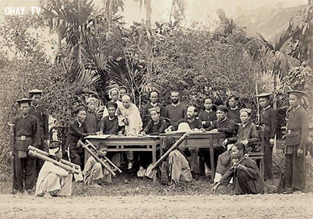 Những người chống Pháp bị đem ra xử án, Hà Nội năm 1890,Việt nam xưa,Việt Nam thế kỷ 18,Ảnh cổ Việt Nam