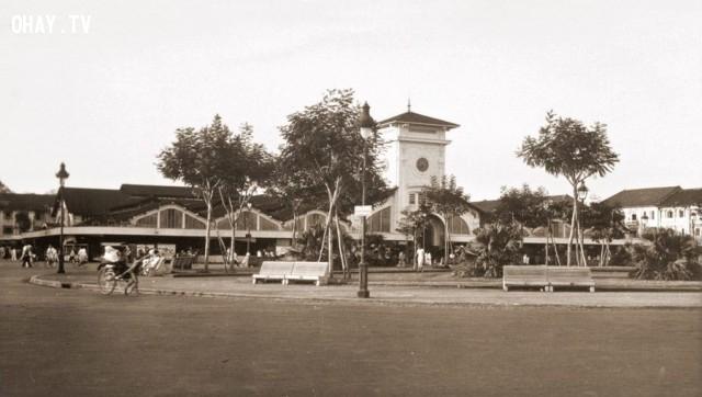 Sài Gòn, Chợ Bến Thành năm 1938,Việt nam xưa,Việt Nam thế kỷ 18,Ảnh cổ Việt Nam