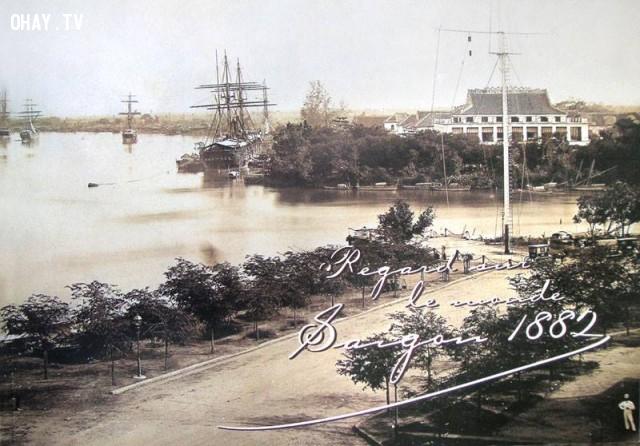 Bến nhà rồng 1882,Việt nam xưa,Việt Nam thế kỷ 18,Ảnh cổ Việt Nam