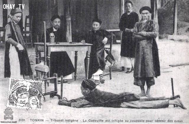 Xử đánh đòn 1890,Việt nam xưa,Việt Nam thế kỷ 18,Ảnh cổ Việt Nam