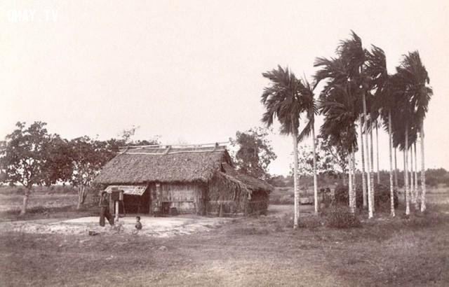 Một ngôi nhà đặc trưng của vùng Sài gòn - Nam bộ thời xưa khoảng 1860,Việt nam xưa,Việt Nam thế kỷ 18,Ảnh cổ Việt Nam
