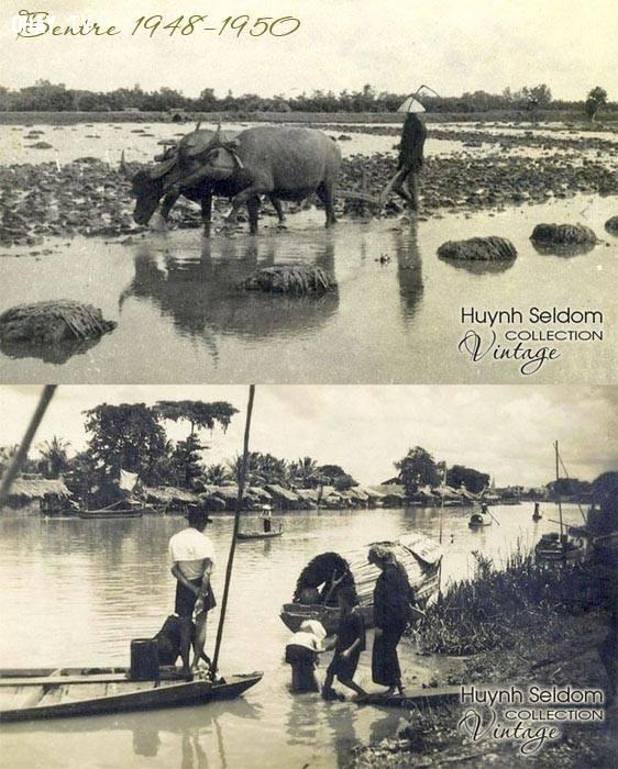 Một góc quê hương Bến Tre năm 1948-1950,Bến Tre xưa,Xứ dừa,hình xưa,ảnh cổ,ảnh lịch sử
