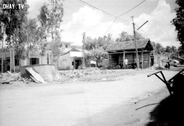 Đoạn gần trường Mỹ Hóa,Bến Tre xưa,Xứ dừa,hình xưa,ảnh cổ,ảnh lịch sử