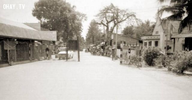Bến phà cũ phía Mỏ Cày, một góc chụp khác,Bến Tre xưa,Xứ dừa,hình xưa,ảnh cổ,ảnh lịch sử