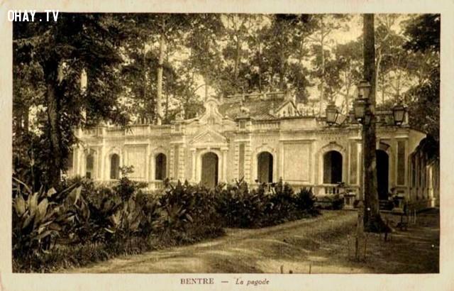 Đình An Hội thời Pháp,Bến Tre xưa,Xứ dừa,hình xưa,ảnh cổ,ảnh lịch sử