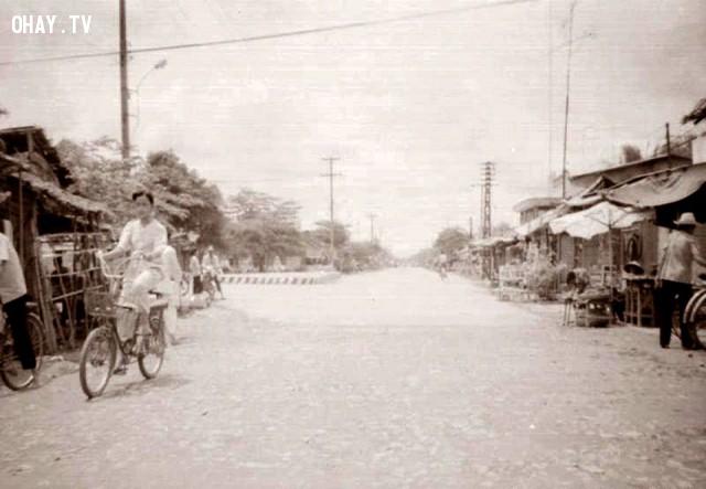 Ngã ba Tân Thành, khoảng năm 1990. Hướng nhìn từ Sơn Đông xuống.,Bến Tre xưa,Xứ dừa,hình xưa,ảnh cổ,ảnh lịch sử