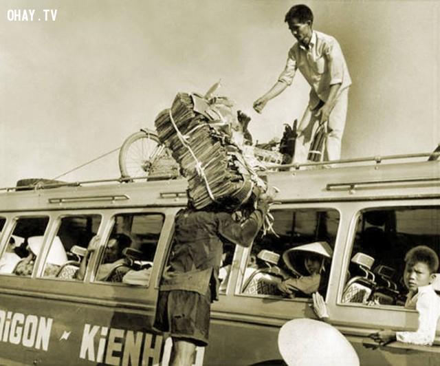 Tuyến xe đò Sài Gòn - Kiến Hòa 1969,Bến Tre xưa,Xứ dừa,hình xưa,ảnh cổ,ảnh lịch sử